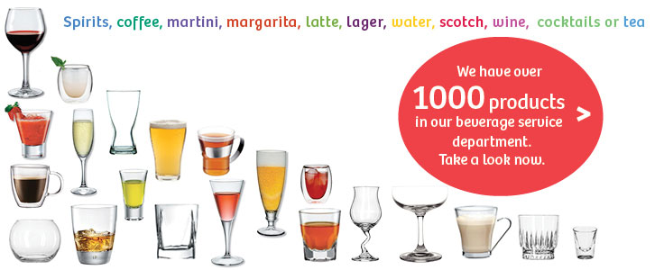 We have thousands of beverage service products so take a look now