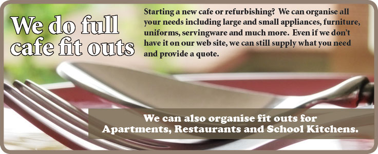 We do full cafe fitouts so if you have a new cafe or refurbishment call us today to discuss how we can help